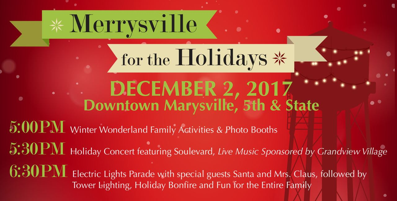 Merrysville for the Holidays - Event Timing
