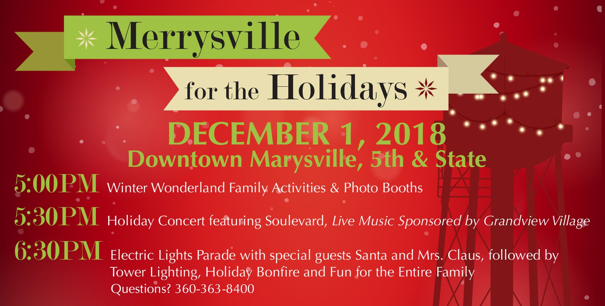 Merrysville for the Holidays Tile