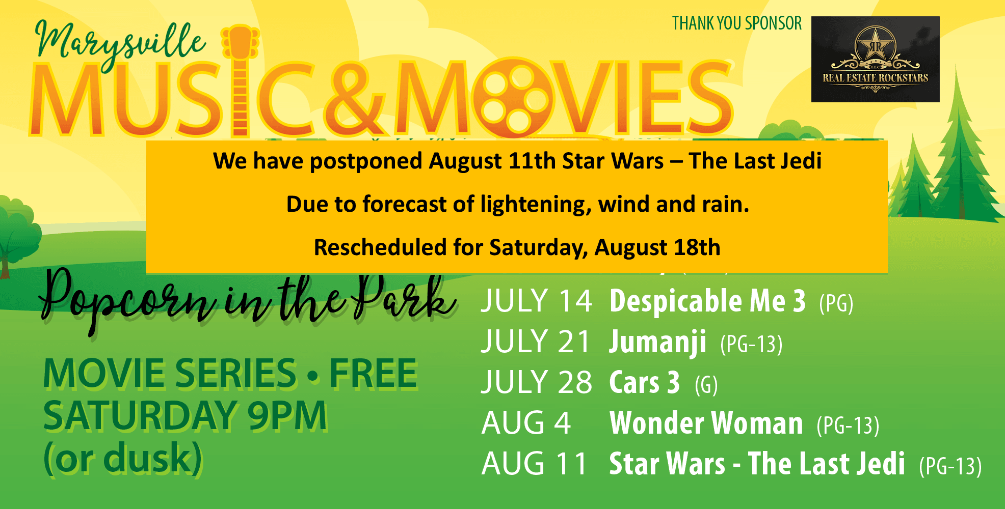 Tile_Popcorn in the Park_august cancellation