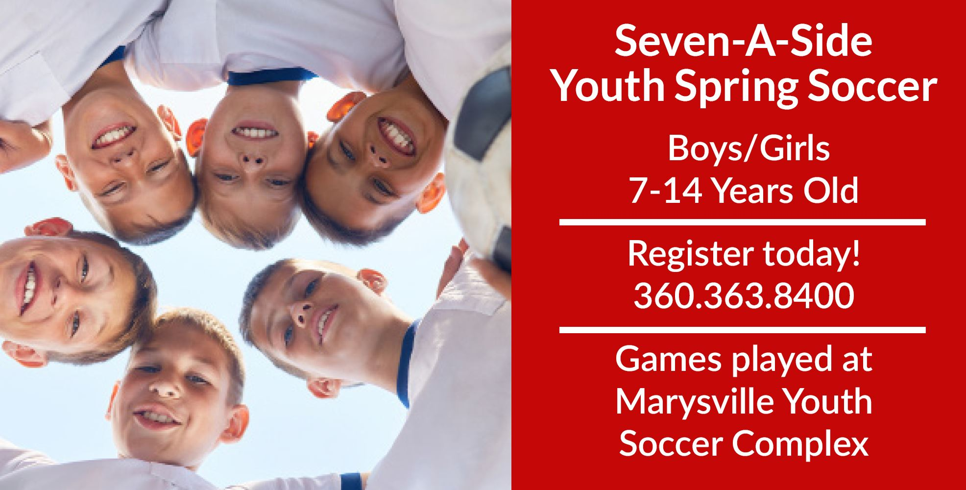 Seven A Side Youth Spring Soccer