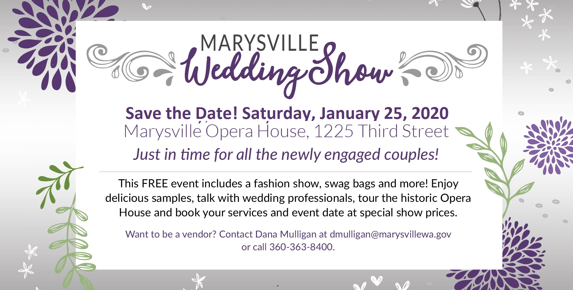 Marysville Wedding Show Tile_save the date 2020