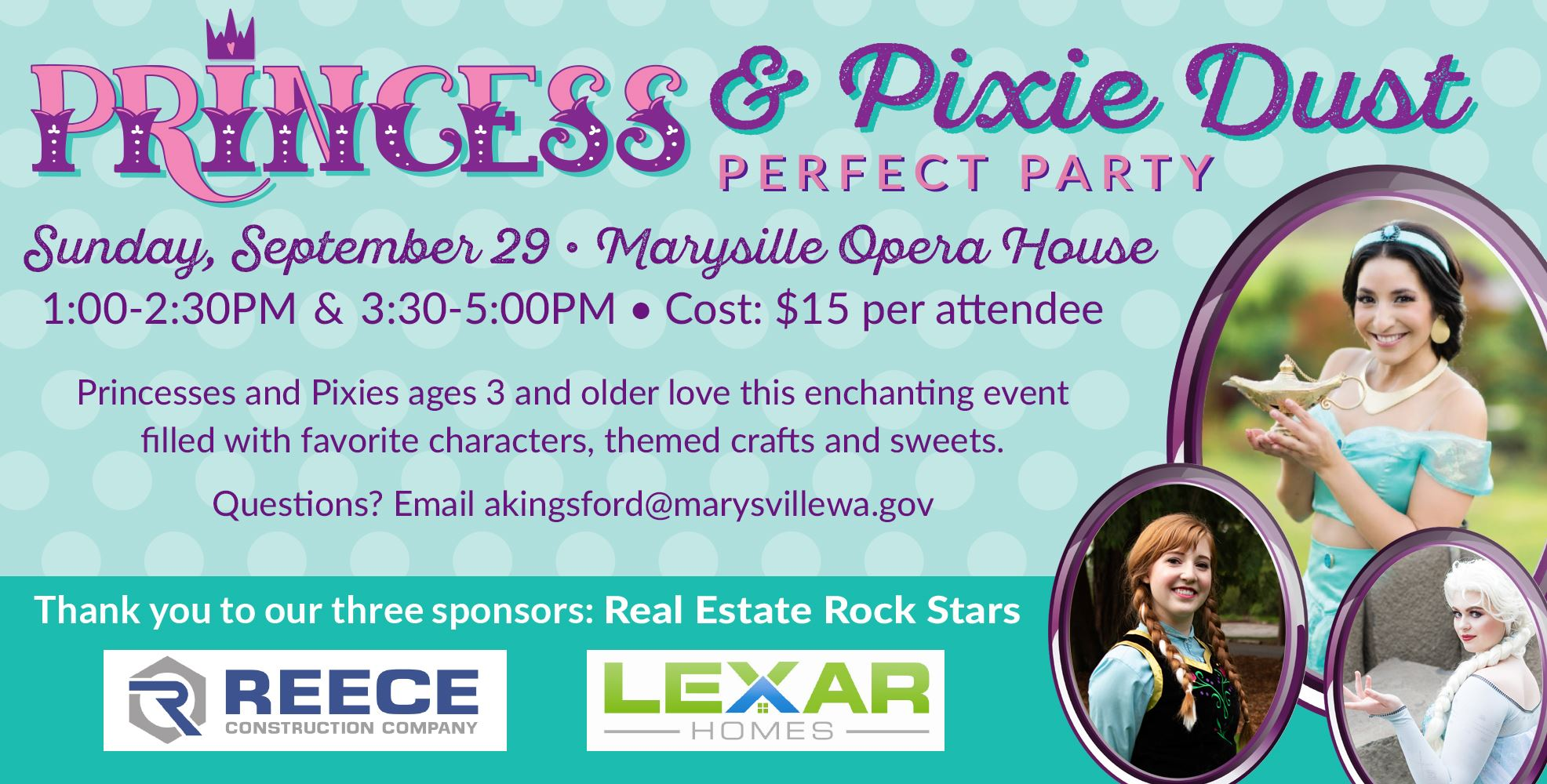 Princess & Pixie Dust Perfect Party, September 29