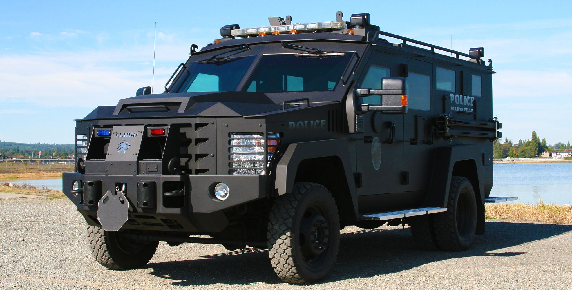 The Bearcat, an armored vehicle used by the Tactical Response and Crisis Negotiation Teams