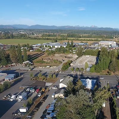 Aerial View Cascade Industrial Center