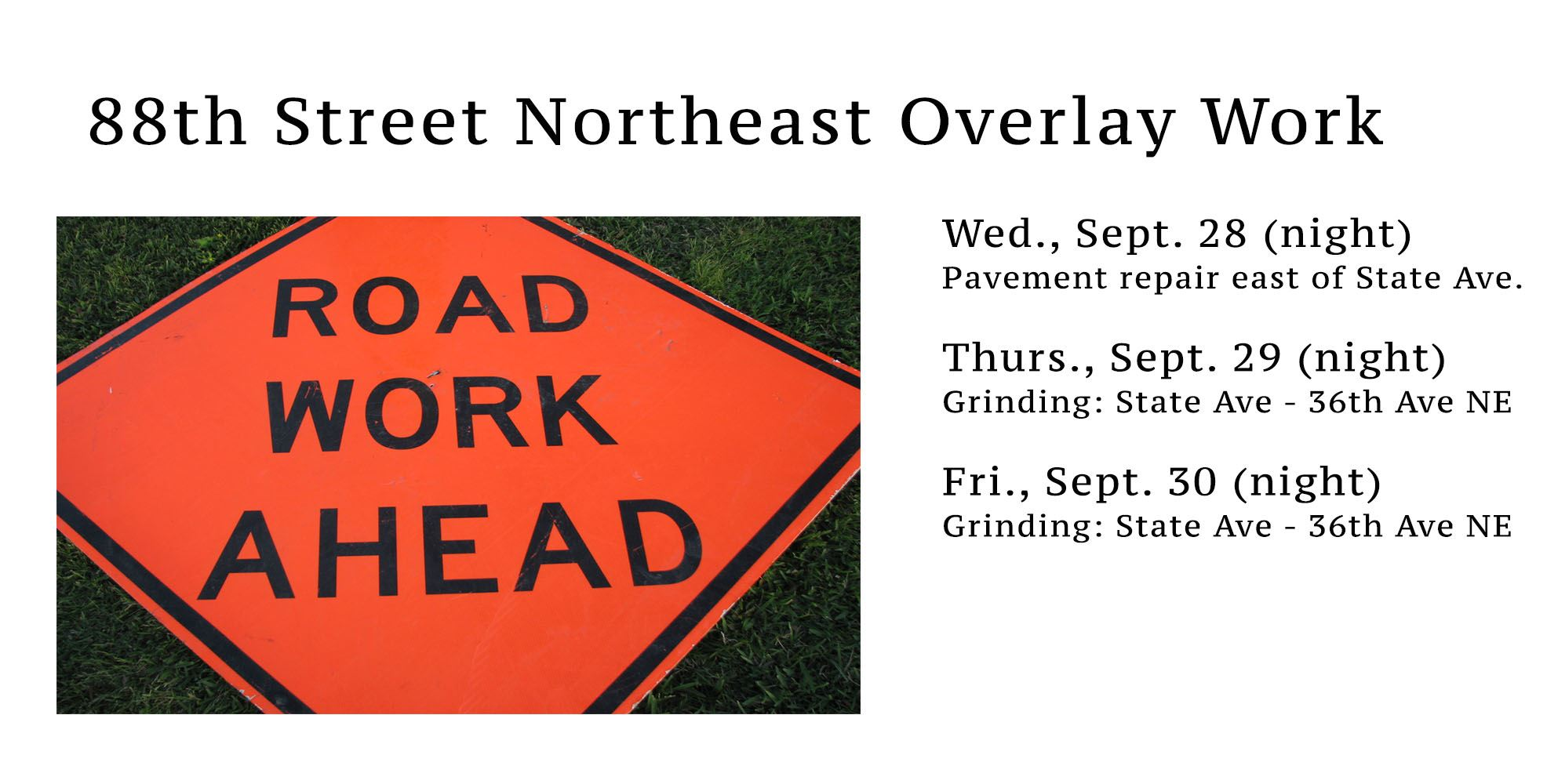 88th St Overlay Work
