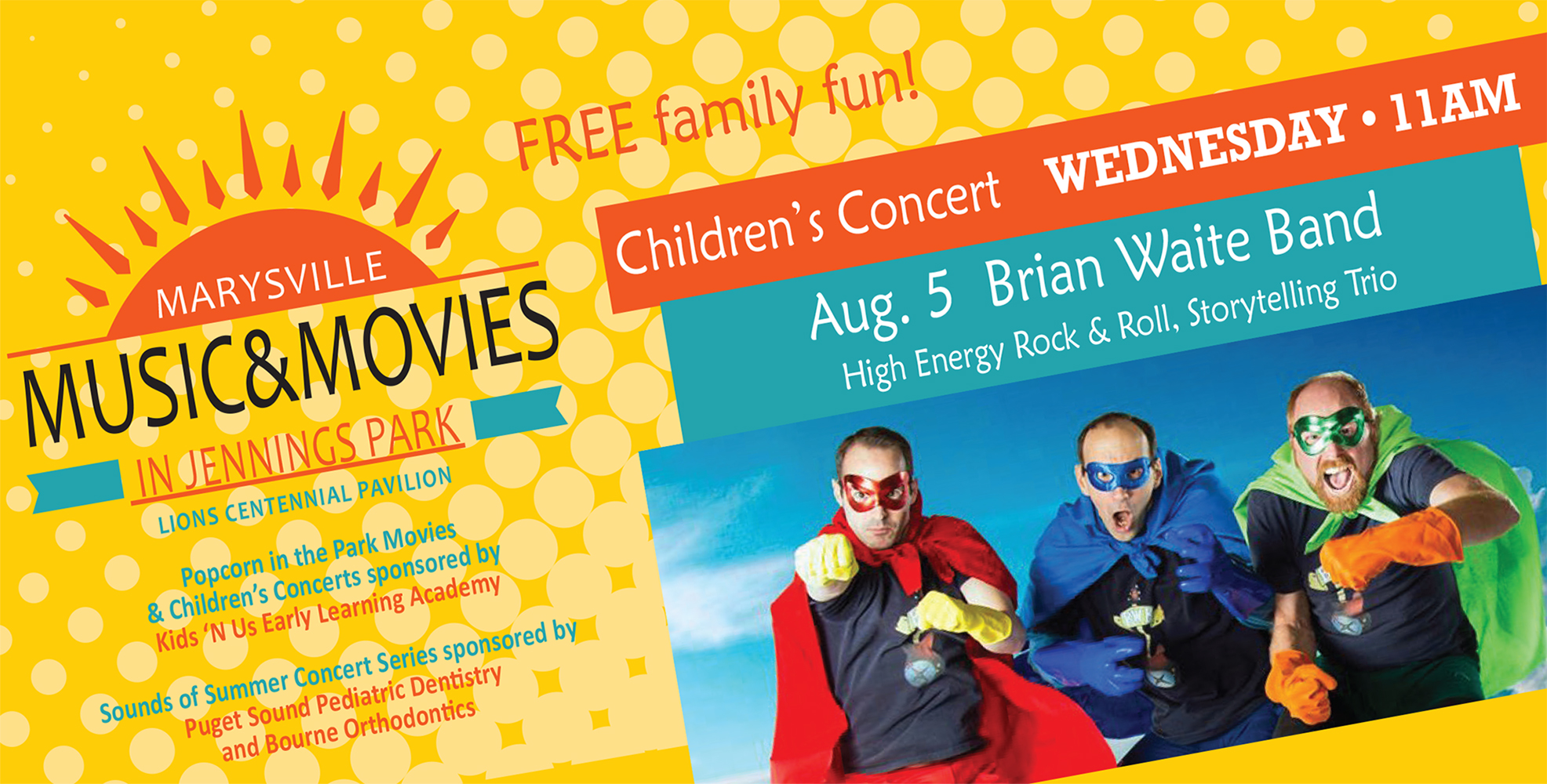 Summer kids' concert: The Brian Waite Band