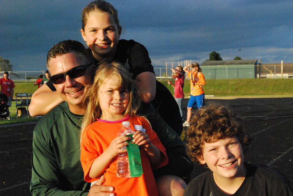 Family at All-Comers Track Meet