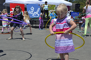 hula hooping at marysville challenge day